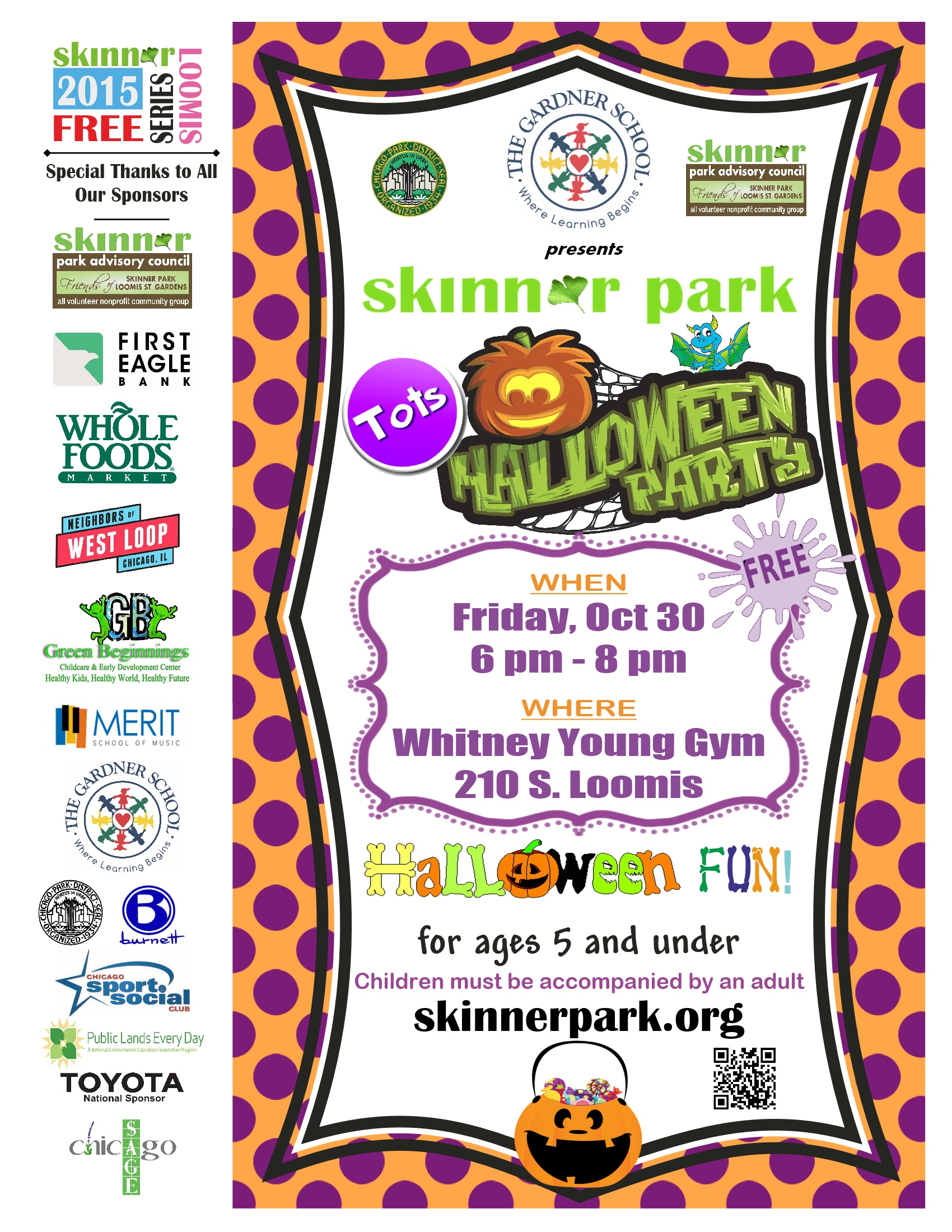 Save the Date! Tots Halloween Party – Friday Oct 30, 6pm | Skinner ...