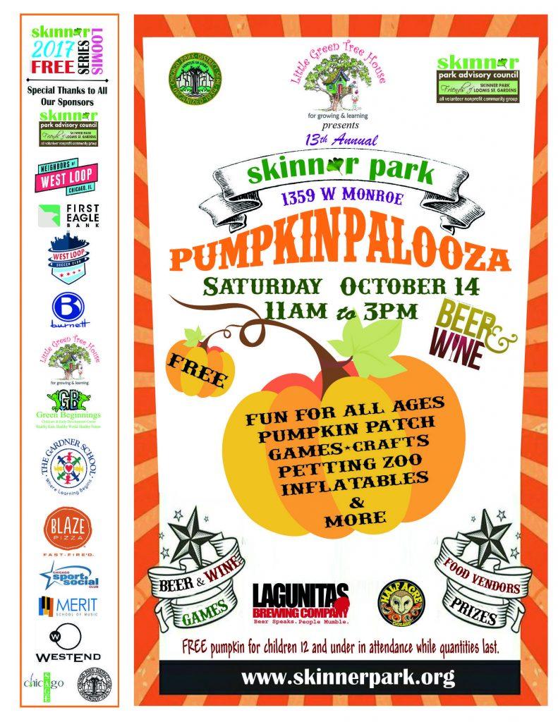 Skinner Park Pumpkinpalooza - Sat.,Oct. 14, 11a - 3p
